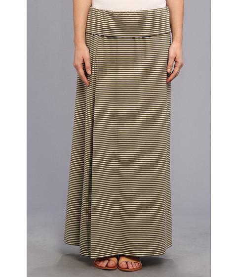 Fuste Vince Camuto - Teeny Stripe Maxi Skirt - Safari Green