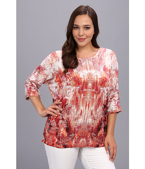 Bluze NIC+ZOE - Plus Size Festive Top - Multi