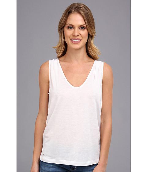 Bluze Lacoste - Sleeveless Slub V-Neck Tee-Shirt - White
