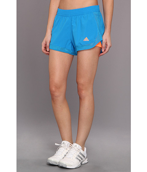 "Pantaloni adidas - TECHFITâ""¢ 2-in-1 Woven Short - Solar Blue/Glow Orange"