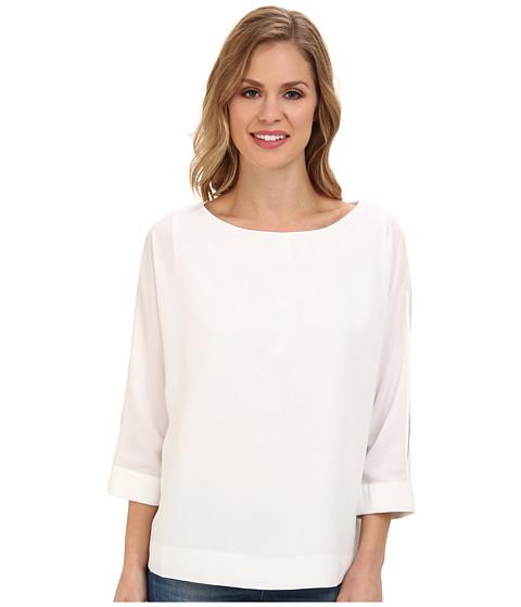 Bluze Calvin Klein - 3/4 Sleeve Crew Neck Blouse - Soft White