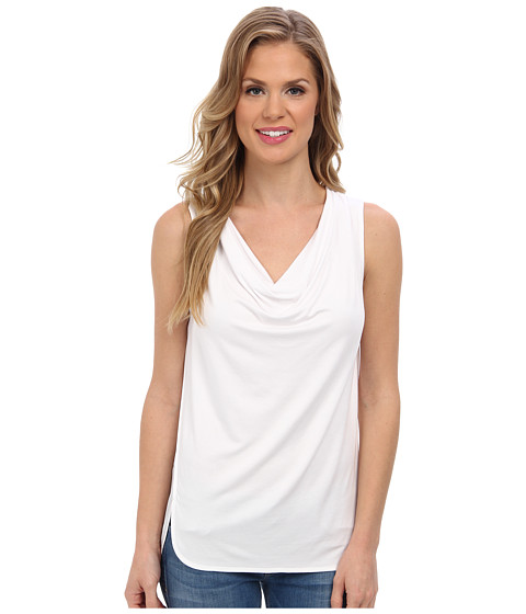 Bluze Calvin Klein - S/L Seamed Cowl w/ Cdc - Soft White