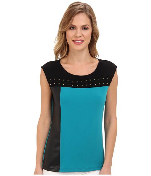Bluze Calvin Klein - Solid Blocked Top w/ Studs - Lagoon