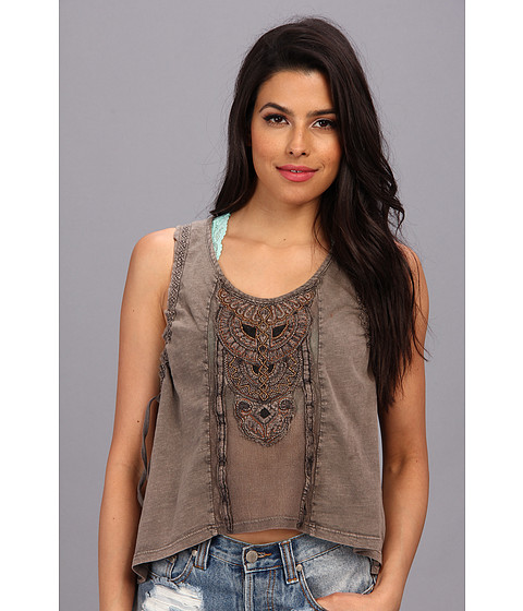 Bluze Free People - Lonesome Dove Top - Washed Black