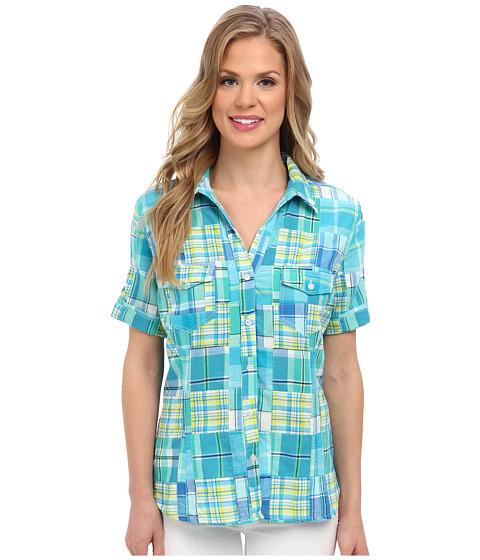 Camasi Jones New York - Short Sleeve Camp Shirt - Cove Blue Multi