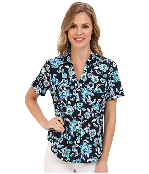 Camasi Jones New York - Short Sleeve Camp Shirt - Navy Multi