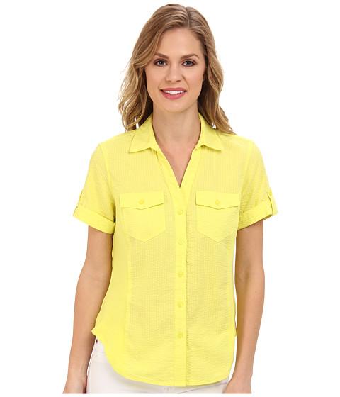 Camasi Jones New York - Short Sleeve Shirt With Rib Trim - Dandelion