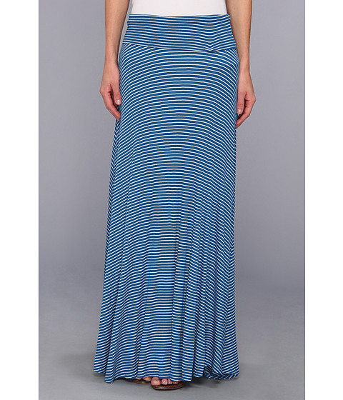 Fuste Rachel Pally - Rib Long Full Skirt - Blue Stripe
