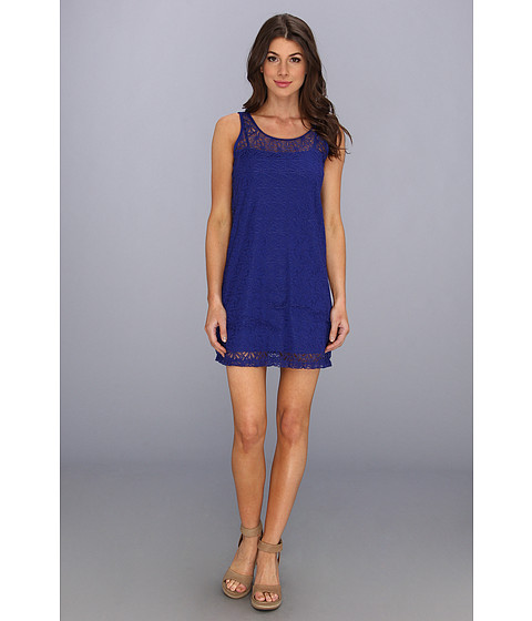 Lenjerie Tommy Bahama - Lace Short Tank Dress Cover-Up - Offshore Blue