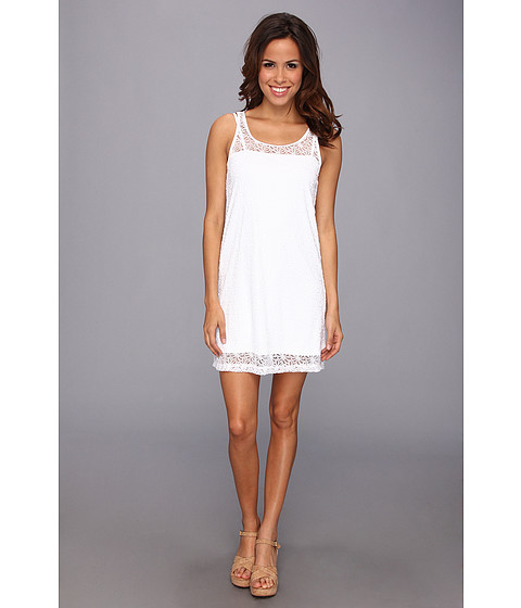 Lenjerie Tommy Bahama - Lace Short Tank Dress Cover-Up - White