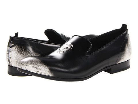 Pantofi Alexander McQueen - Skull Slipper - Silver Grey