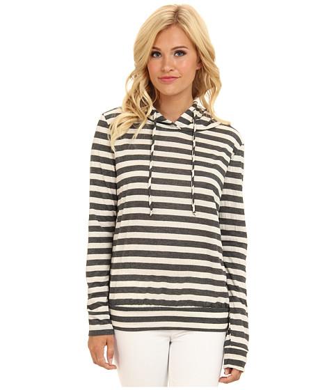 Bluze Gabriella Rocha - Striped Pullover Hoodie - Grey