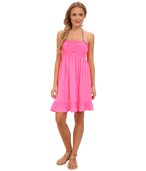 Lenjerie Juicy Couture - Bow Chic Smocked Cover-Up Dress - Shell Shock
