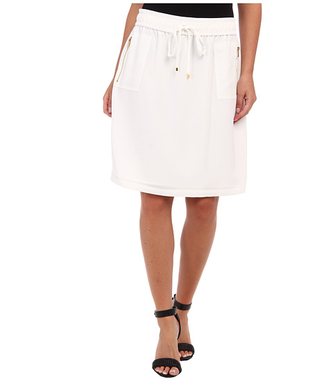 Fuste Calvin Klein - Drawstring Skirt - Soft White