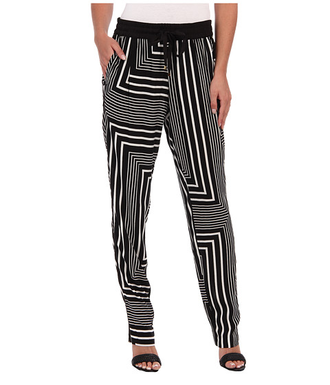 Pantaloni Calvin Klein - Print Tapered Pant - Black Neutral Multi