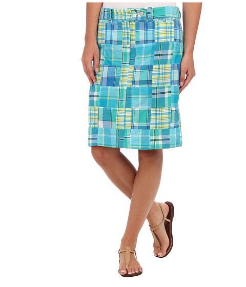 Fuste Jones New York - Extend Tab Slim Skirt With Front Welt Pockets - Cove Blue