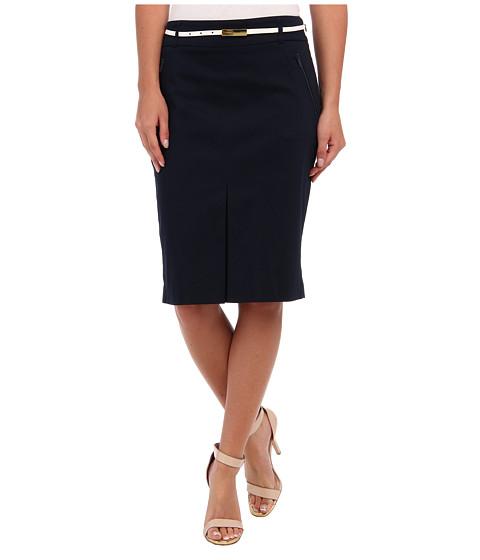 Fuste Jones New York - Zipper Front Pencil Skirt - Navy