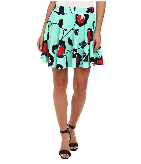 Fuste Gabriella Rocha - Floral Skater Skirt - Mint