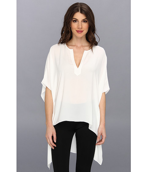 "Bluze BCBGMAXAZRIA - ""Neda\"" Hi-Low Hem Top - White"