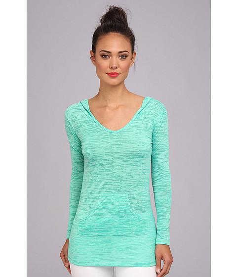 Bluze Culture Phit - Lyla Burnout Hoodie Tunic - Seafoam