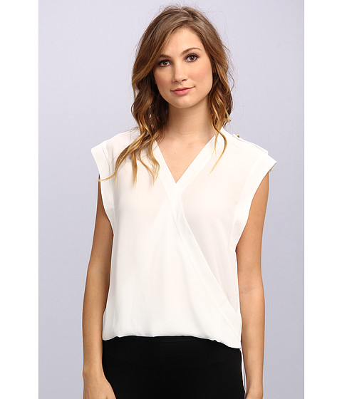 Bluze Vince Camuto - S/L Wrap Front Shirt Tail Blouse - New Ivory