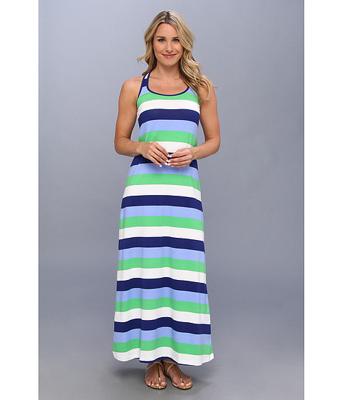 Lenjerie Tommy Bahama - Skipper Stripe Long Tank Dress Cover-Up - Offshore Blue/Echo Green/White