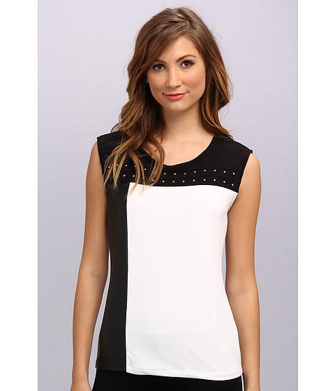 Bluze Calvin Klein - Solid Blocked Top w/ Studs - Soft White