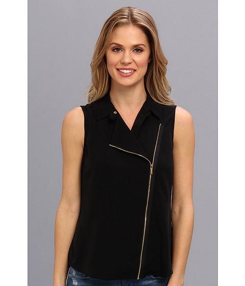 Bluze Calvin Klein - Moto Blouse w/ Zips - Black
