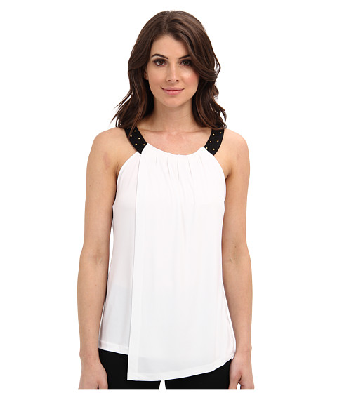 Bluze Calvin Klein - Solid Double Layer Top - Soft White