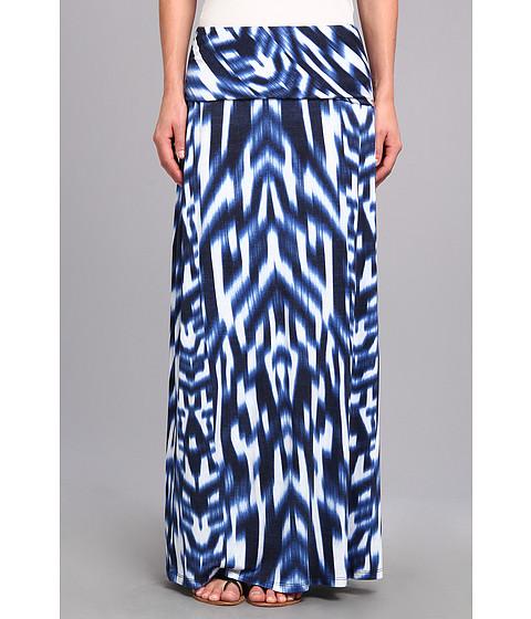 Fuste Calvin Klein - Print Maxi Skirt - Regatta/White