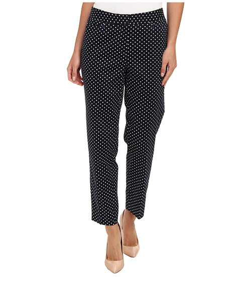 Pantaloni Jones New York - Crop Trouser - Navy/White