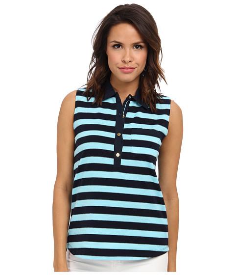 Bluze Jones New York - Sleeveless Polo w/ Pocket - Tidepool/Navy