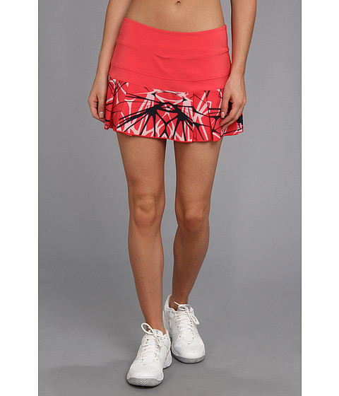 Fuste Nike - Printed Pleated Woven Skirt - Geranium/Matte Silver