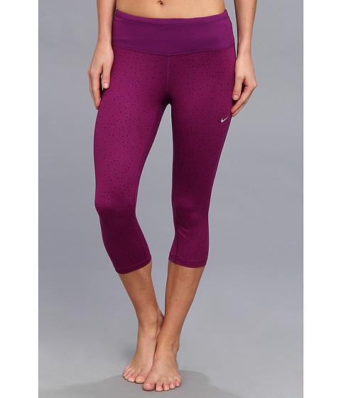 Pantaloni Nike - DriFit Epic Run Capri (P) - Bright Grape/Bright Grape/Matte Silver