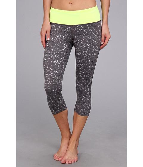 Pantaloni Nike - DriFit Epic Run Capri (P) - Dark Grey/Volt/Matte Silver