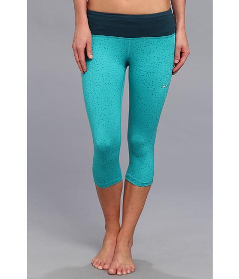 Pantaloni Nike - DriFit Epic Run Capri (P) - Turbo Green/Nightshade/Matte Silver