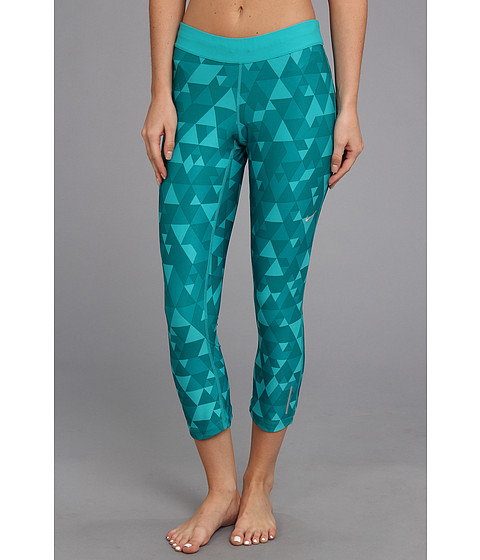 Pantaloni Nike - Printed Relay Crop - Turbo Green/Turbo Green/Matte Silver