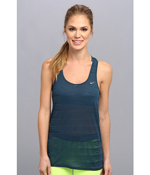 "Bluze Nike - Dri-Fitâ""¢ Touch Breeze Stripe Tank Top - Nightshade/Reflective Silver"