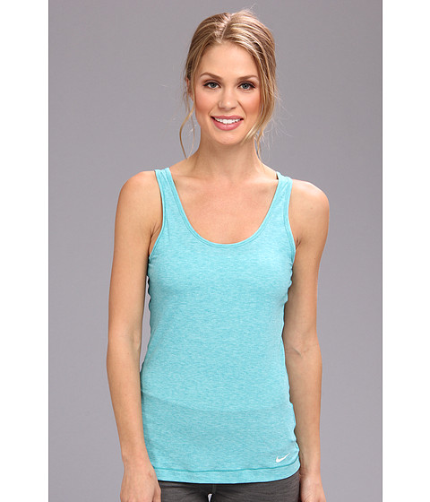 Bluze Nike - Pro Studio Tank Top - Aquamarine Heather/White