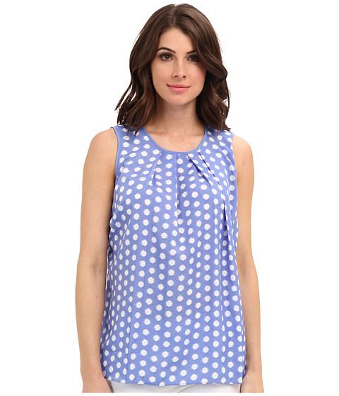 Bluze MICHAEL Michael Kors - Polka Dot Pleat Top - Oxford Blue