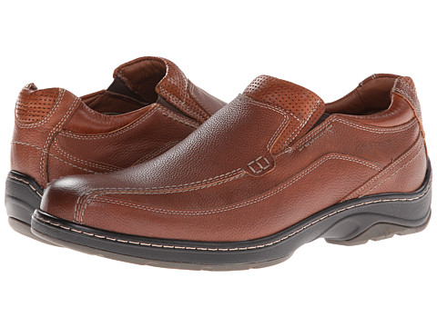 Pantofi Johnston & Murphy - Fairfield Runoff Venetian - Dark Tan Waterproof Full Grain