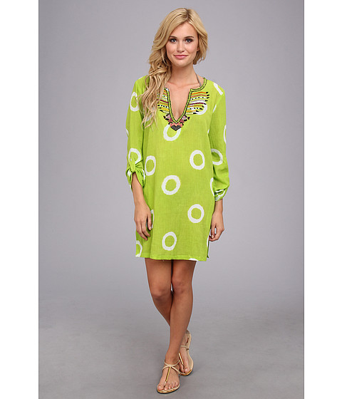 Costume de baie Echo Design - Tanzanian Circle Tuni Cover-Up - Chartreuse