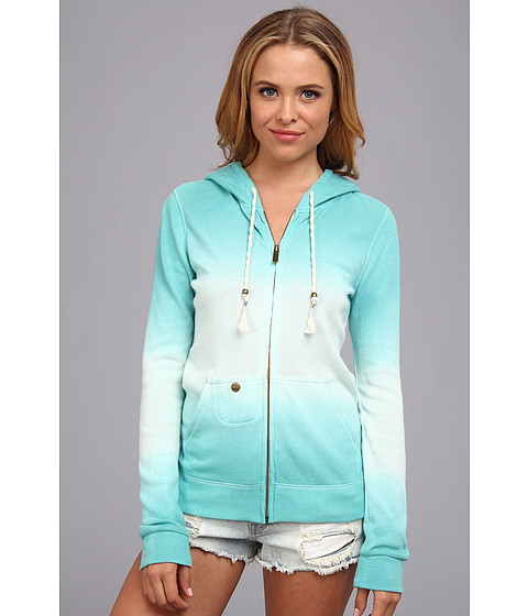 Bluze Roxy - Tail Wind Zip Front Hoodie (Juniors) - Moon Light Jade
