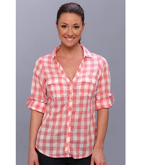 """Camasi Columbia - Sun Drifterâ""""¢ L/S Shirt - Hot Coral Gingham"""