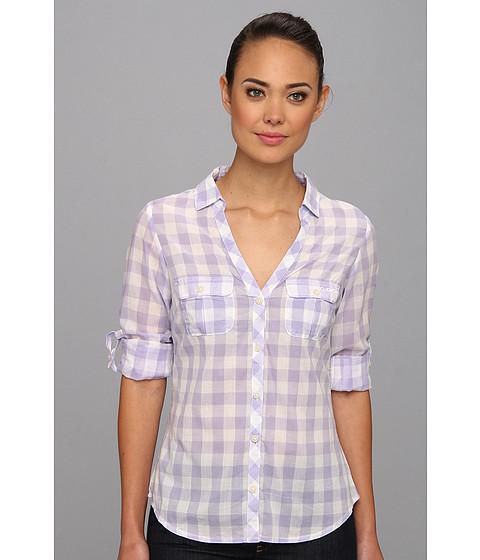 "Camasi Columbia - Sun Drifterâ""¢ L/S Shirt - Whitened Violet Gingham"