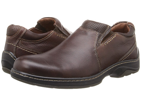 Pantofi Johnston & Murphy - Fairfield Plain Toe Venetian - Mahogany Waterproof Full Grain