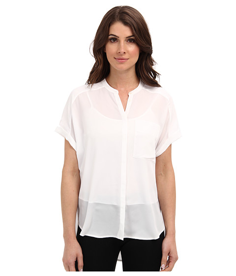 Bluze DKNY - Rolled S/S Button Thru Blouse - White