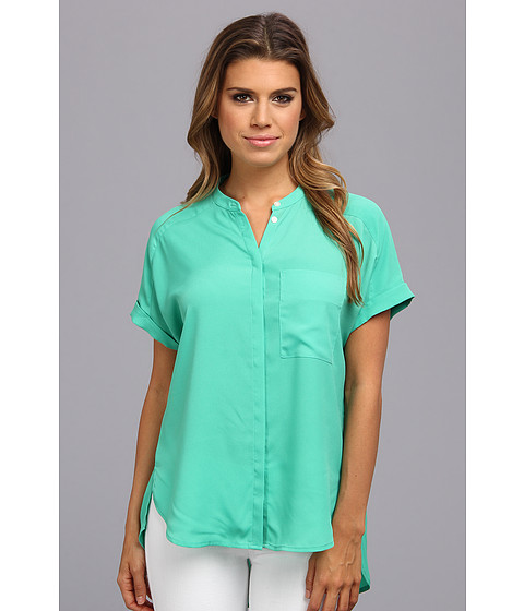 Bluze DKNY - Rolled S/S Button Thru Blouse - Cactus
