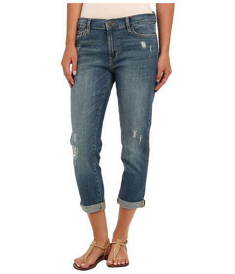 Blugi Calvin Klein - Destructed Boyfriend Jean in Medium Blue Fade - Medium Blue Fade