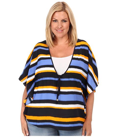 Bluze MICHAEL Michael Kors - Plus Size Flutter Sleeve Top - Vintage Yellow/Oxford Blue